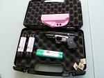 FIRESTORM JPX 2 LE Personal Black Bundle with Laser and Pink Carbon Fiber Retension Holster