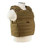 Expert Plate Carrier Vest - Tan with Ballistic Soft Plates