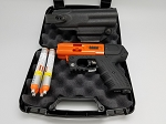 JPX4 Shot LE Defender Pepper Gun Orange with laser and Level II Holster