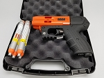 JPX4 Shot LE Defender Pepper Gun with laser Orange Barrel