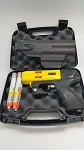 JPX4 Shot LE Defender Pepper Gun Yellow with laser and Level II Holster