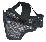 Black Metal Mesh Half Face Mask