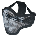 Black Scull Metal Mesh Half Face Mask