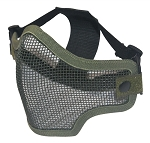 Green Metal Mesh Half Face Mask