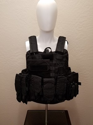 FIRESTORM Tactical Level IIIA Vest with QUICK RELEASE and Full MOLLE BLACK
