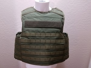 FIRESTORM Tactical Level IIIA Vest with Plate Pocket Molle OD Green Large