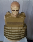 FIRESTORM Tactical Level IIIA Vest with Plate Pocket Molle Tan
