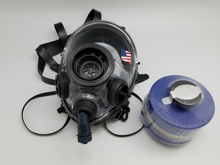 400-3 BB Gas Mask  Respirator Size M-L With Drinking Attachment 2024 filter
