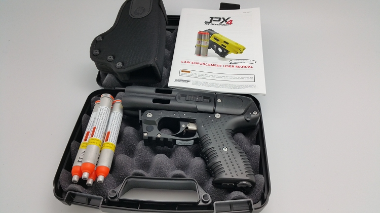JPX4 Shot LE Defender Pepper Gun with laser and Cordura Belt holster
