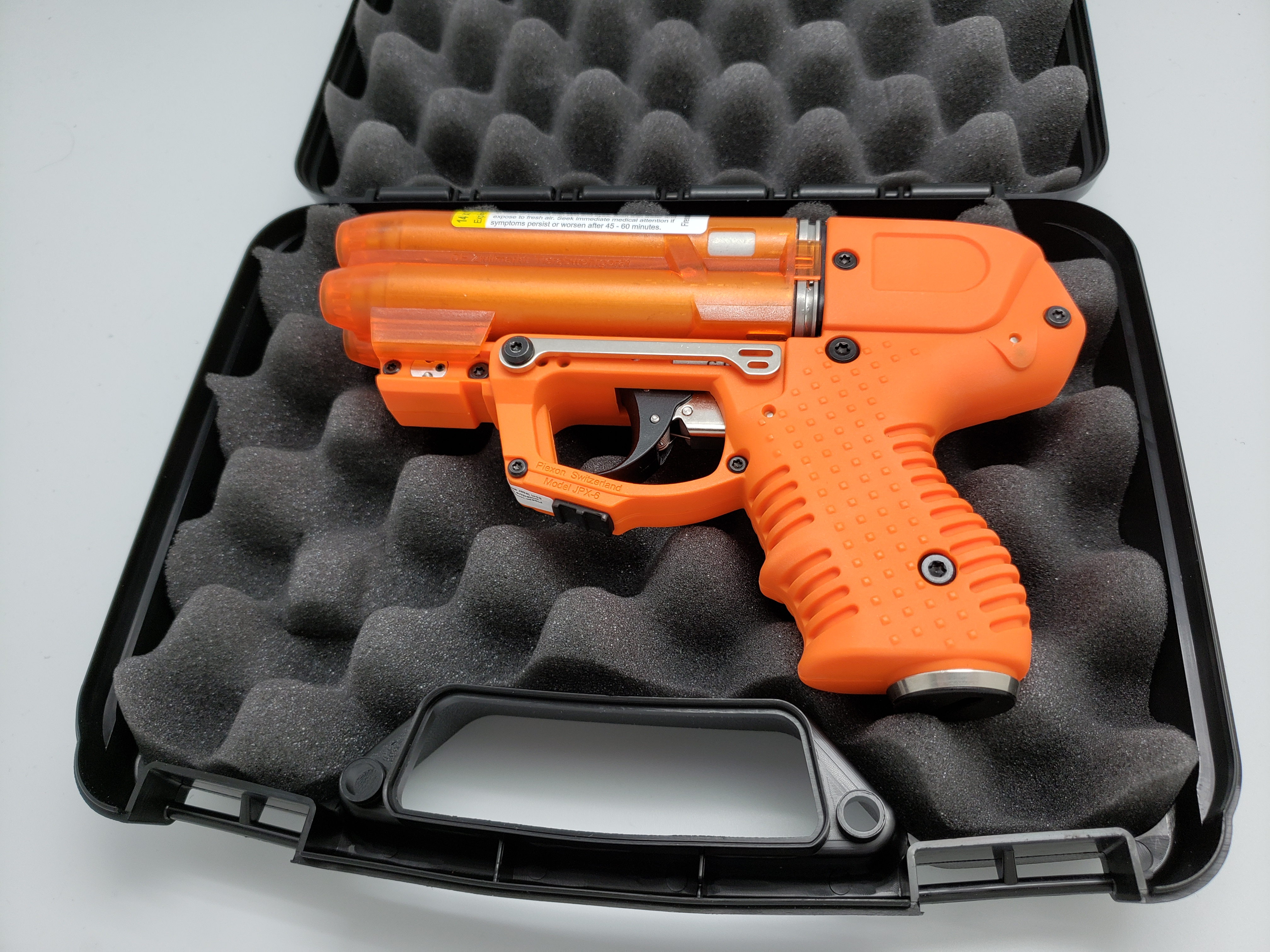 FIRESTORM ORANGE JPX 6 LE Defender Pepper Gun with laser