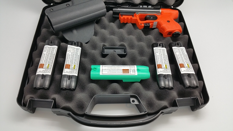 FIRESTORM JPX 2 Security Defense Bundle with Orange Frame with Laser with 4 Extra Magazines