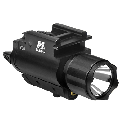 NcStar 200 Lumen LED Gun light with Weaver mount and Red Laser