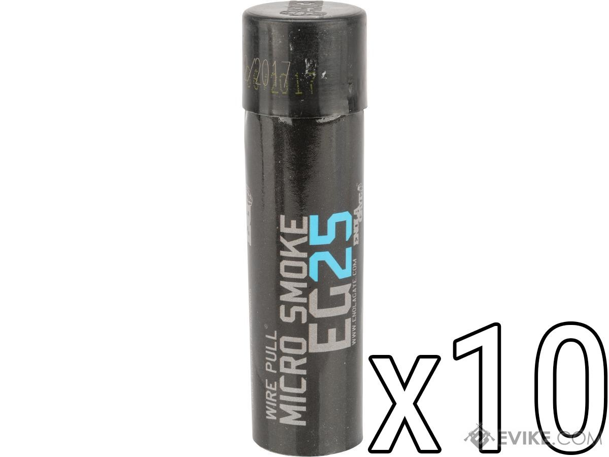 MICRO BOX OF 10 WIRE PULL SMOKE GRENADES BLUE SMOKE