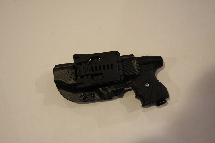 Zorn JPX Retention Left Hand Black Holster in Carbon Fiber