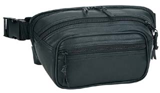 All Leather Medium Gun Fanny Pack