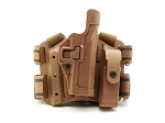 BLACKHAWK Tactical Serpa Level 2 Holster for Glock with Mag Pouch, Coyote Tan, Right Hand
