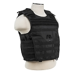 Expert Plate Carrier Vest - Black with soft ballistic plates