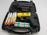 JPX4 Shot LE Defender Pepper Gun Yellow with laser Defense Bundle