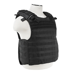 NCSTAR BLACK QUICK RELEASE PLATE CARRIER  with Level IIIA Soft Plates
