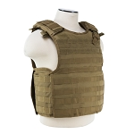 NcStar Quick Release Plate Carrier Vest Tan with Level IIIA Soft Plates