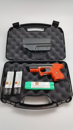 FIRESTORM Orange JPX 2 Defense Bundle with Laser and Paddle Holster