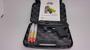 JPX4 Shot Compact Defender Pepper Gun with cartridges
