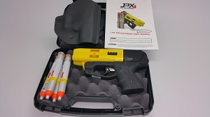 JPX4 Shot Compact Pepper Yellow Gun with Retention Paddle Holster