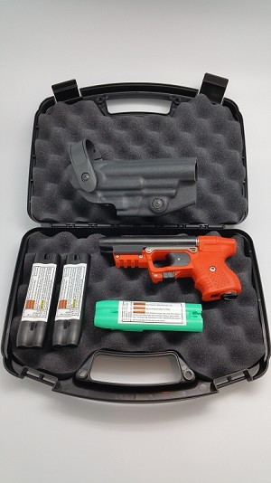 FIRESTORM Orange JPX 2 Defense Bundle with Laser and Vega Level 2 Holster