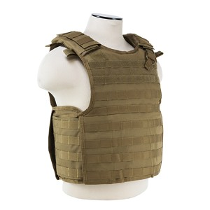 NcStar Quick Release Plate Carrier Vest Tan