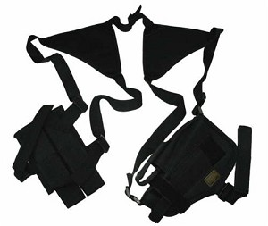 JPX 2 Nylon Shoulder Holster with Dual Mag Pouch